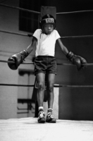 A young boxer awaits his first fight